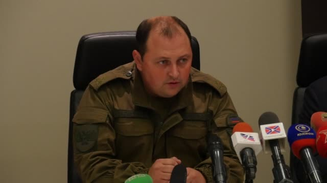 dmitry trapeznikov who has been appointed as interim head of the dnr after its leader alexander zakharchenko was killed in a blast says that ukraine... - sabotage stock videos & royalty-free footage
