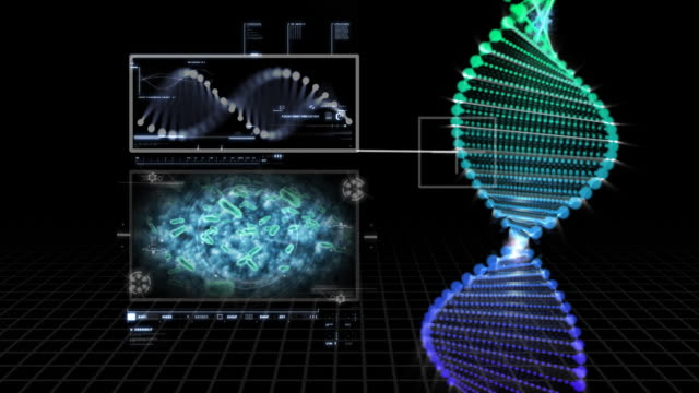 dna structure research - helix model stock videos and b-roll footage