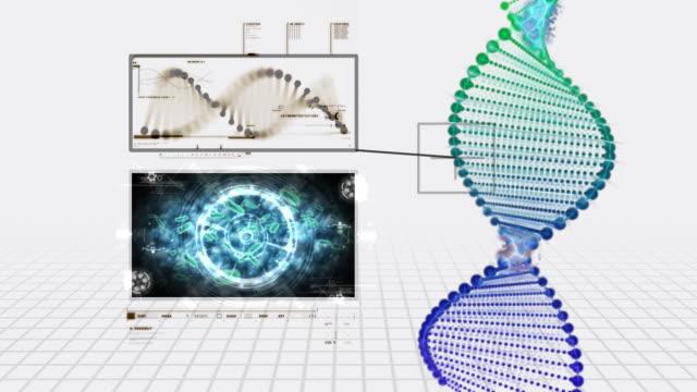 vídeos de stock, filmes e b-roll de dna estrutura de investigação - alta magnificação