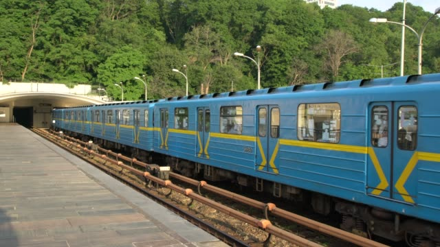 dnipro metro station in kiev ukraine - ukraine stock videos & royalty-free footage