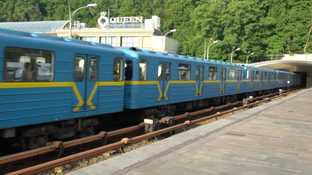 dnipro metro station in kiev ukraine - ukraine stock videos & royalty-free footage