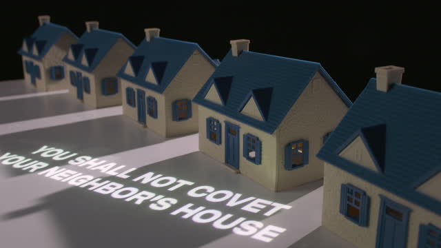 do not covet your neighbor's house - pastor stock videos & royalty-free footage