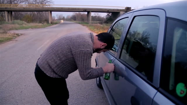 do not drink alcohol and drive! - stop sign stock videos & royalty-free footage