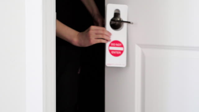do not enter sign on door - keep out sign stock videos & royalty-free footage