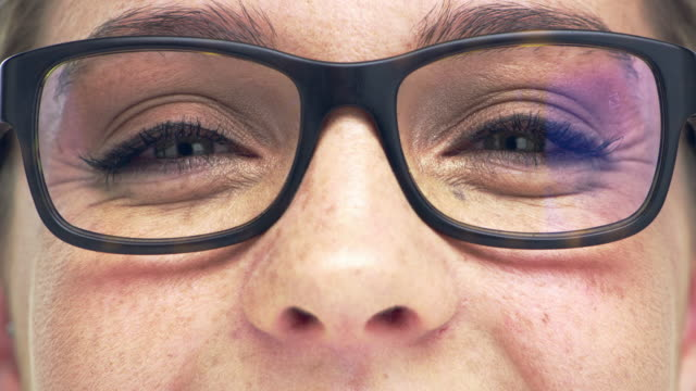 do you have specs appeal? - cornea stock videos & royalty-free footage