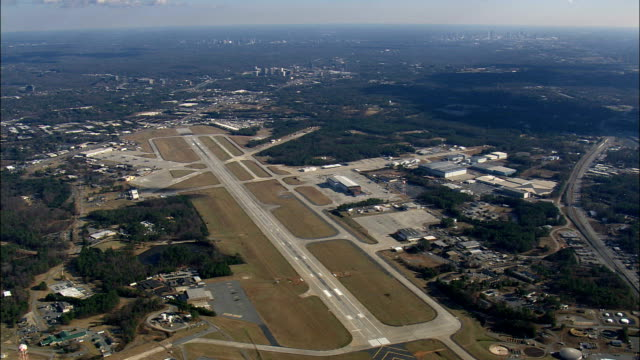 dobbins air force base  - aerial view - georgia,  united states - military base stock videos & royalty-free footage