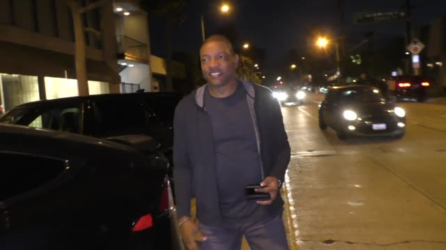 INTERVIEW Doc Rivers comments on Chris Paul's first conference final outside Craig's in West Hollywood in Celebrity Sightings in Los Angeles