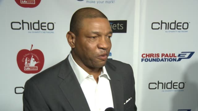 INTERVIEW Doc Rivers on the event at The CP3 Foundation's Celebrity Server Dinner Hosted By Chris Paul in Los Angeles CA