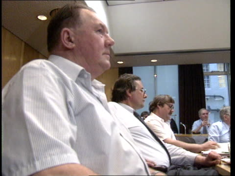 dock strike threat; england, londond, transport house seq tgwu docks committee including general secretary ron todd in meeting cms ron todd speaking... - secretary general stock videos & royalty-free footage