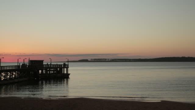 Dock-Sonnenuntergang.