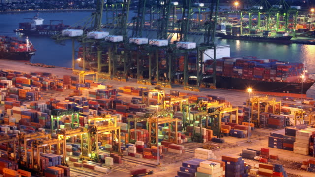 docks and shipping containers - docks stock videos and b-roll footage