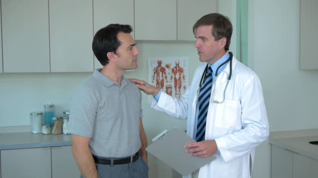 Doctor and patient in doctor's office