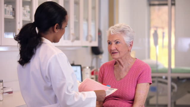 ms doctor check up with senior patient in hospital / richmond, virginia, usa - clinic stock videos & royalty-free footage