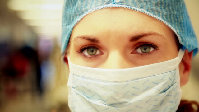 doctor eyes - surgical mask stock videos & royalty-free footage