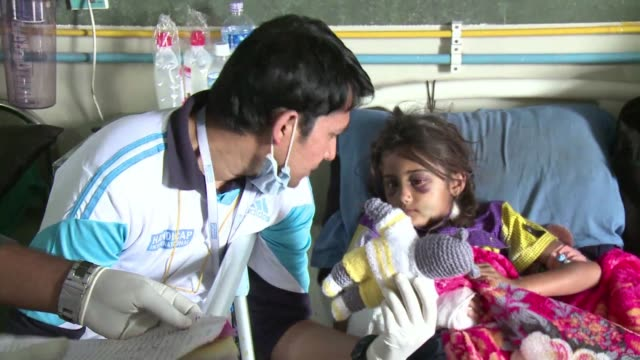 doctor helping quake victims at a hospital in kathmandu says most of the patients arrive with fractures - kathmandu stock videos & royalty-free footage