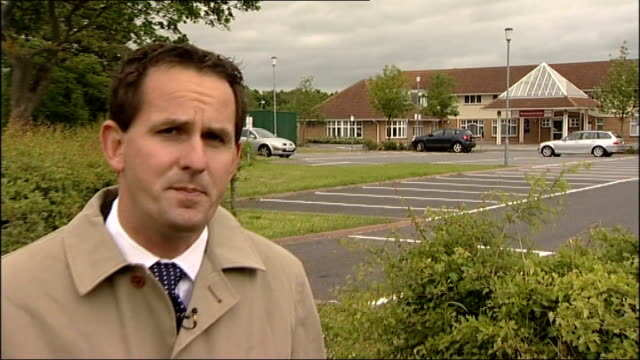 doctor howard martin admits helping patients die county durham ext reporter to camera - itv weekend late news点の映像素材/bロール