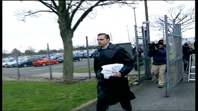 doctor jailed for refusing to go to iraq; england: hampshire: aldershot: military court centre: ext raf doctor, flight lieutenant malcolm... - aldershot stock videos & royalty-free footage