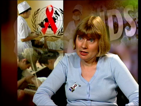 doctor karen baggaley interview sot - there's evidence from countries like uganda that something can be done to reverse the epidemic/ in countries... - epidemic stock videos & royalty-free footage