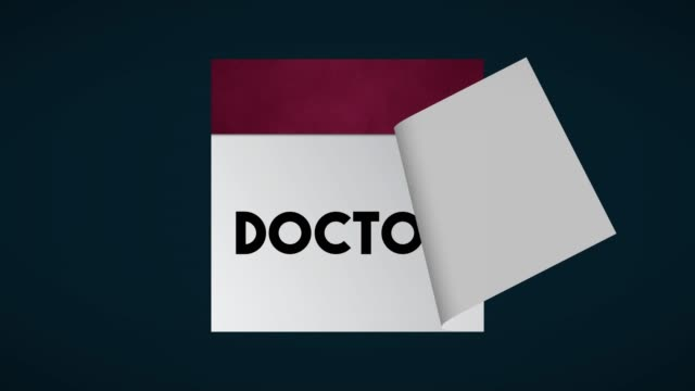 doctor page on calendar 4k stock video - 2020 business stock videos and b-roll footage