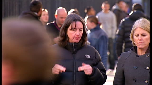 whitehall ext reporter to camera west midlands birmingham dr daphne austin along street with reporter dr daphne austin interview sot reporter and... - west midlands stock videos and b-roll footage