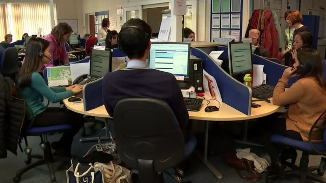 Doctor talks of fears over safety of NHS 111 telephone service ENGLAND Hertfordshire INT NHS 111 helpline call centre worker SOT Good afternoon...