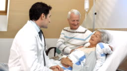HD DOLLY: Doctor Telling Good News To Elderly Patient