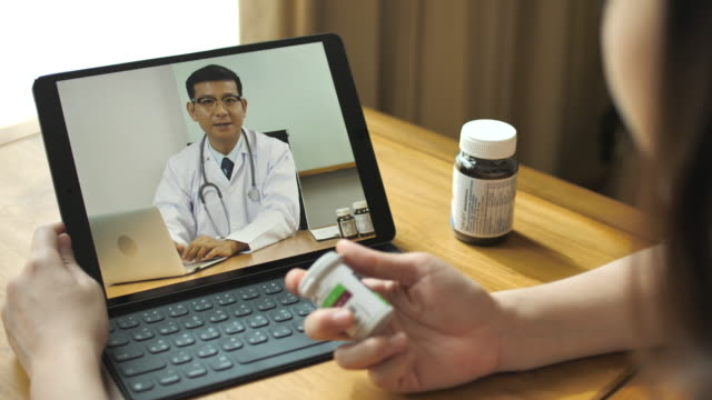Doctor video conference to patient