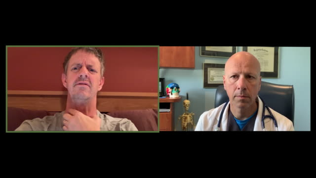 doctor video conferencing with his patient. - video call stock videos & royalty-free footage