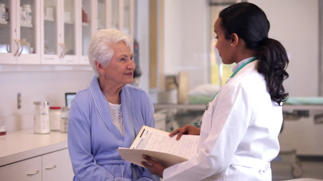 MS Doctor with Senior Patient in Hospital / Richmond, Virginia, USA