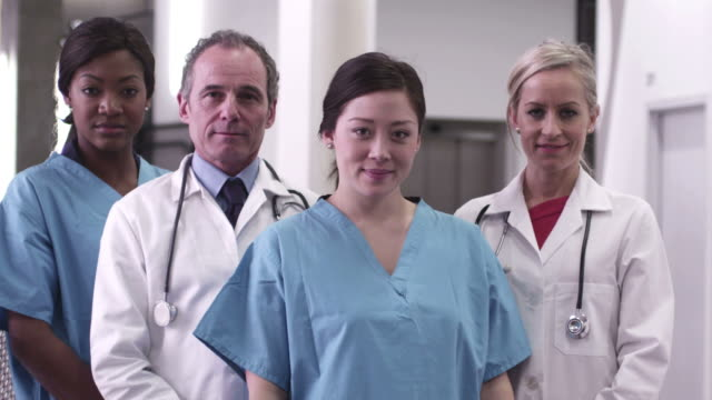 doctors and nurses in hospital - greater london video stock e b–roll