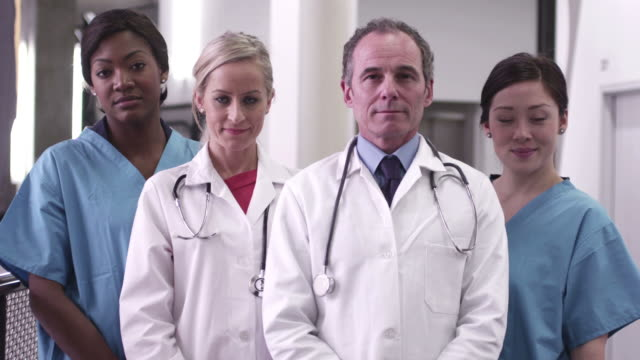 doctors and nurses in hospital - 40 seconds or greater stock-videos und b-roll-filmmaterial