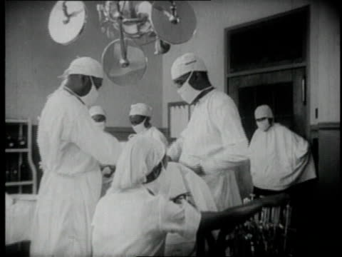 1940 ms doctors and nurses performing operation / tuskegee, alabama, united states - medical student stock videos and b-roll footage