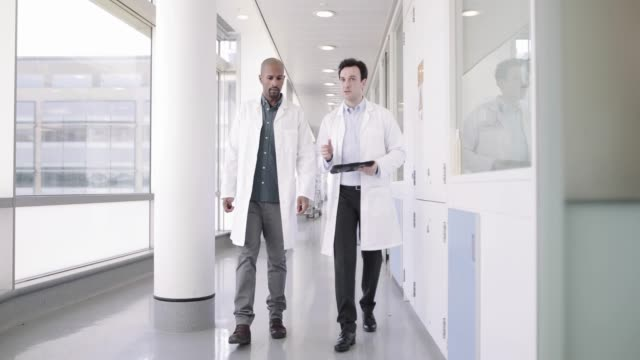 doctors in a hospital discussing patient treatment - clinic stock videos & royalty-free footage