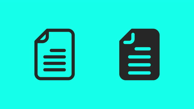 Document Icons - Vector animer