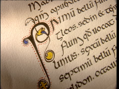 A document is written in medieval calligraphy.
