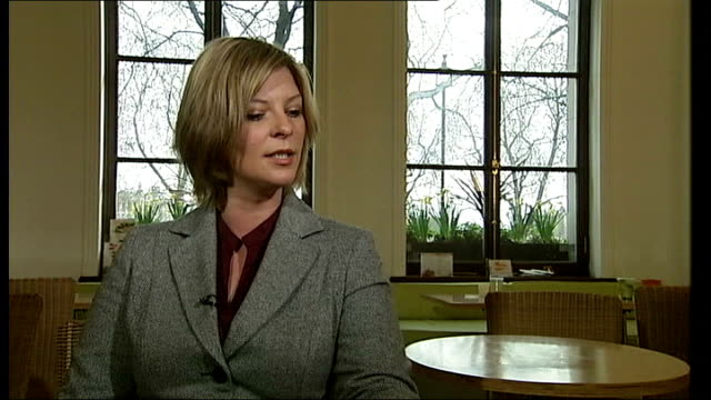 stockvideo's en b-roll-footage met documentary asks 'what next for cherie blair' location unknown lauren booth interview sot remember father saying 'jesus cherie's married a tory' 1997... - neil kinnock