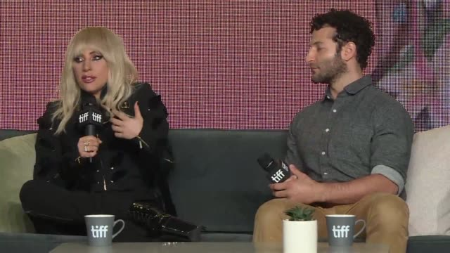 vídeos de stock, filmes e b-roll de documentary filmmaker chris moukarbel takes toronto film festival audiences backstage to meet the real lady gaga sketching raw humanity at the height... - festival de cinema de toronto