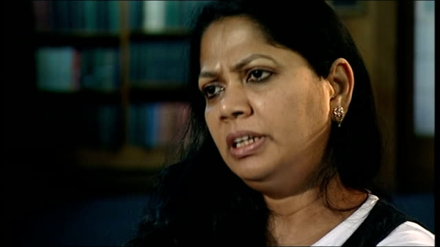 documentary made about poet salma; england: sheffield: int salma interview sot - poet stock videos & royalty-free footage