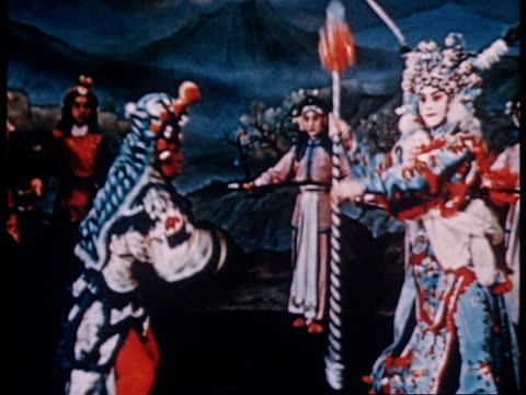 vidéos et rushes de documentary of the training of peking opera artists from beginning to finished artists - actrice