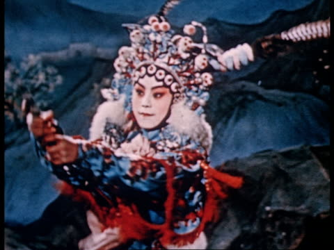 vidéos et rushes de documentary of the training of peking opera artists from beginning to finished artists - pékin