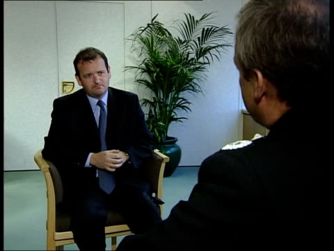 bbc documentary on police recruits itn dep chief con alan green interview sot we will be ruthless/ will adopt tactics that will expose people - military recruit stock videos and b-roll footage