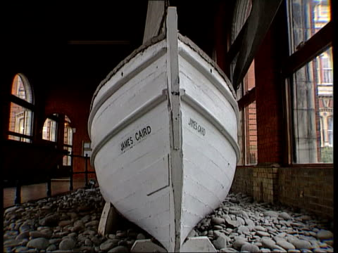 documentary on the polar expedition of ernest shackleton restored england south london dulwich college int ms 'james caird' lifeboat from endurance... - ernest shackleton stock videos & royalty-free footage
