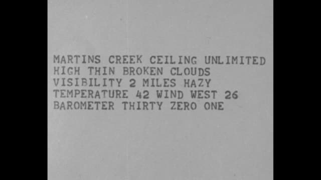 documents with typewritten weather conditions and notations / teletype machine prints out weather reports and aviation codes / side shot man with... - man and machine stock videos & royalty-free footage