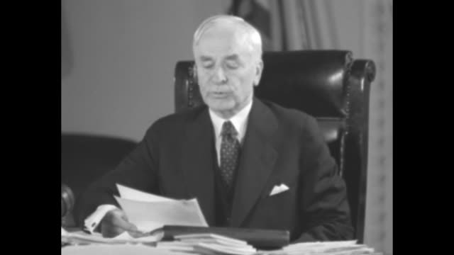 documents with wax seals and signatures / sot secretary of state cordell hull reads statement regarding trade agreement with canada and united... - cordell hull stock videos and b-roll footage