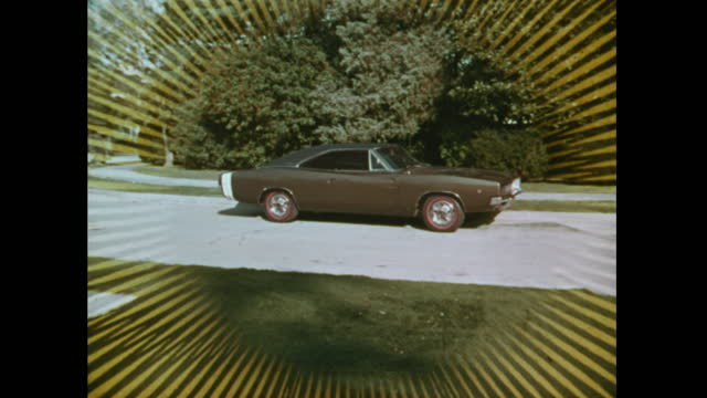 1968 dodge charger tv commercial (wedding) - bunch stock videos & royalty-free footage