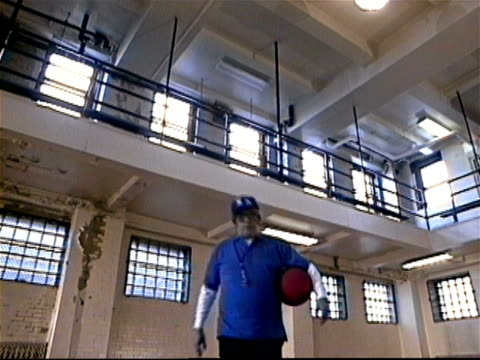 dodgeball coach walking towards camera and holding ball / talking into camera / new york - einzelner mann über 40 stock-videos und b-roll-filmmaterial