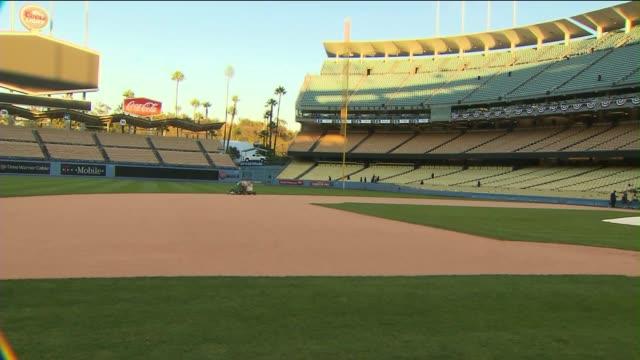 Dodgers Stadium on October 16 2013 in Los Angeles California
