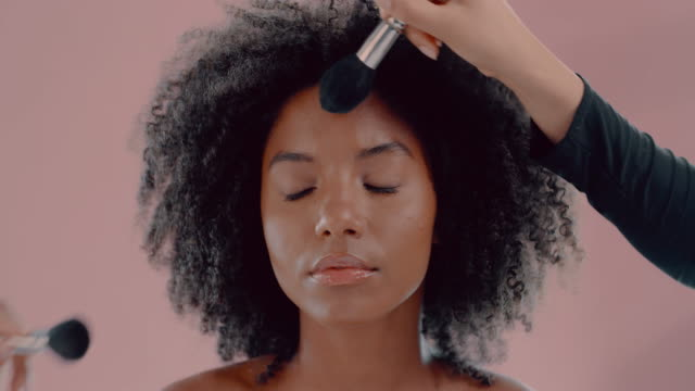 does make-up make you feel pretty? go for it! - brown background stock videos & royalty-free footage