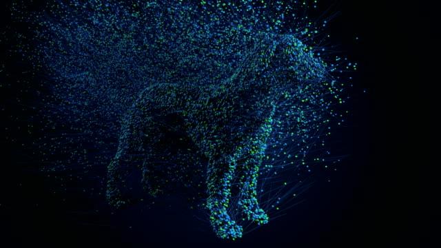 Dog 3d particles