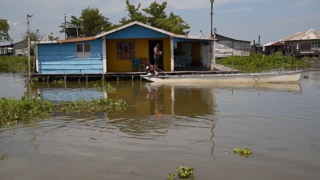 COL: Views Around Floating Village of Nueva Venecia in Colombia